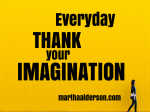 Thank Your Imagination